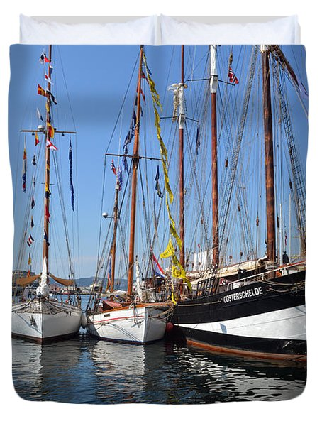 International Sailing Festival In Bergen Norway 2 Duvet Cover