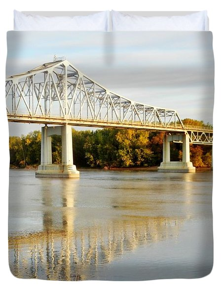 Interstate Bridge In Winona Duvet Cover