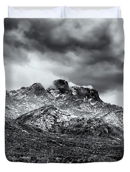 Duvet Cover featuring the photograph Into Clouds by Mark Myhaver