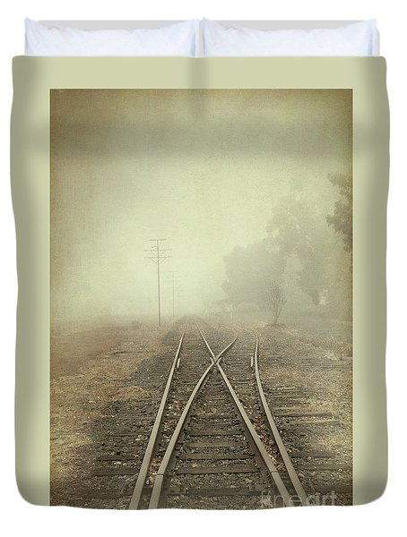 Into The Fog Duvet Cover by Elaine Teague