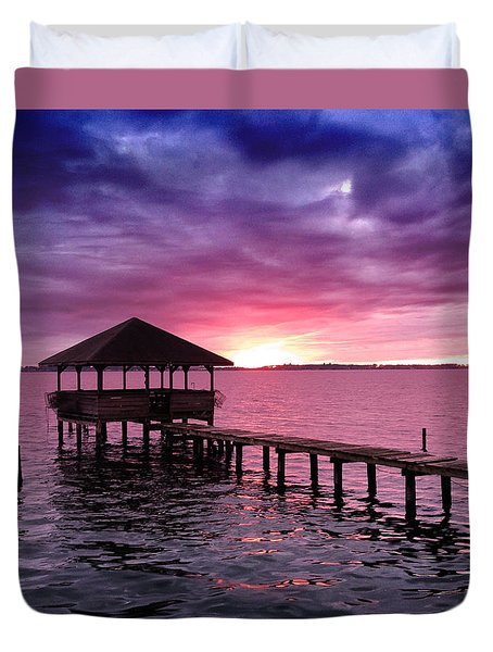 Into The Horizon Duvet Cover by Rebecca Davis