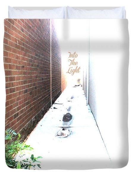 Into The Light Duvet Cover