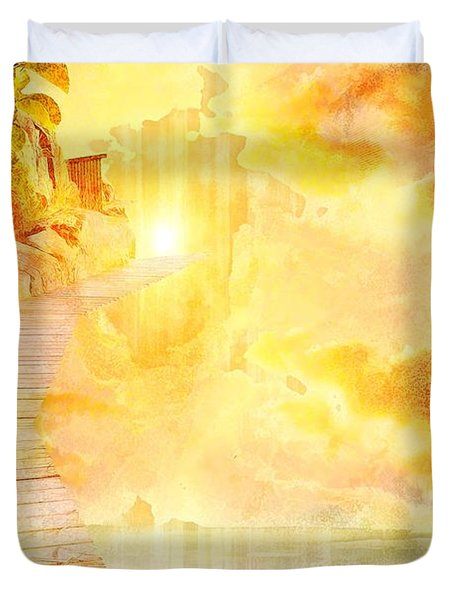 Into The Light Duvet Cover by Liane Wright