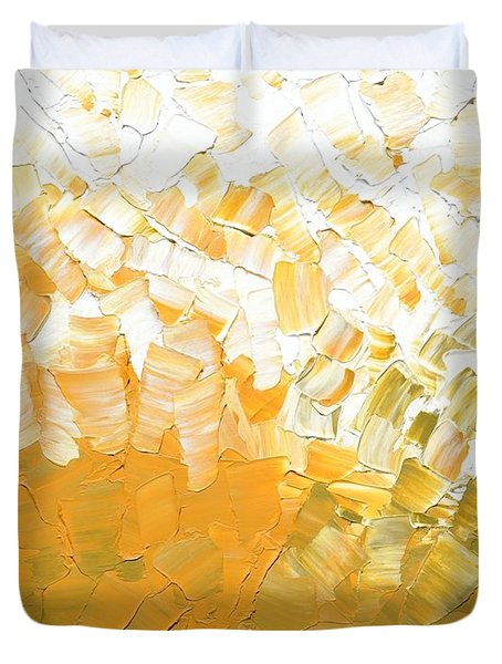 Duvet Cover featuring the painting Into The Light by Linda Bailey