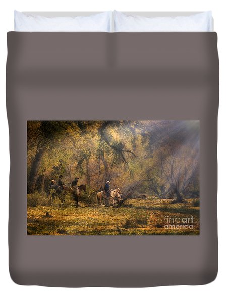 Into The Light Duvet Cover by Priscilla Burgers