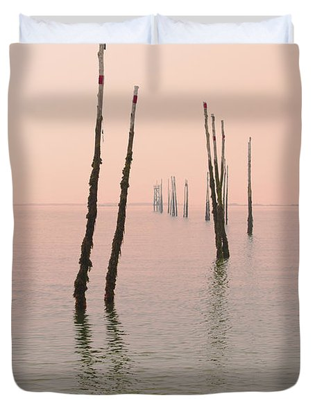 Into The Pink Sunset... Duvet Cover