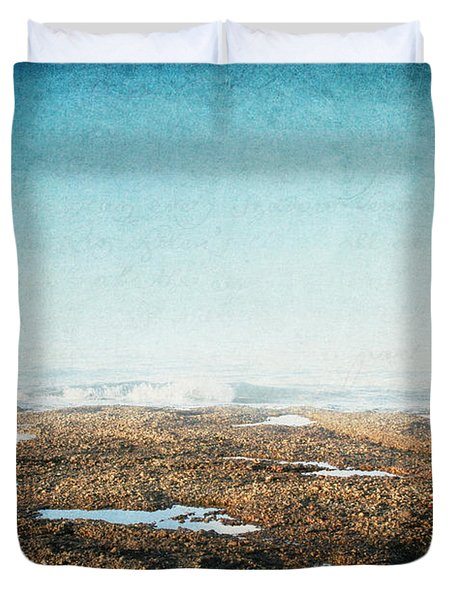 Duvet Cover featuring the photograph Into The Sea by Lisa Parrish