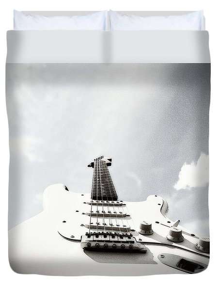 Duvet Cover featuring the photograph Into The Stratocastersphere by Joseph J Stevens