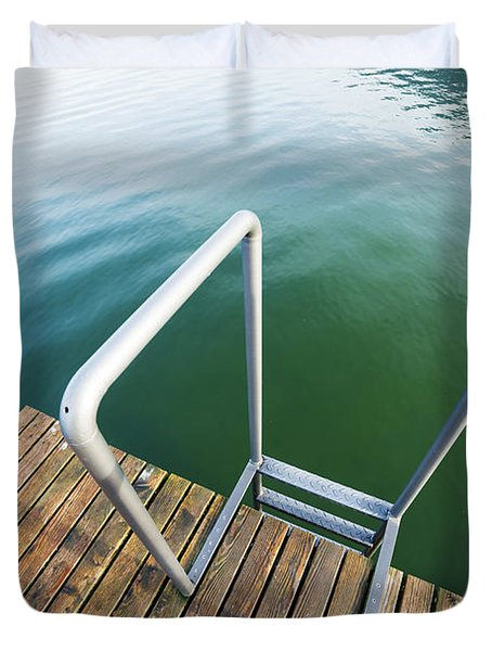 Duvet Cover featuring the photograph Into The Water by Chevy Fleet