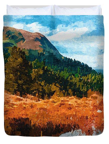 Into The Woods Duvet Cover by Ayse Deniz