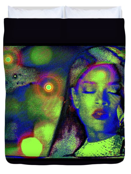 Intonation..... Rihanna Duvet Cover by Susanne Still