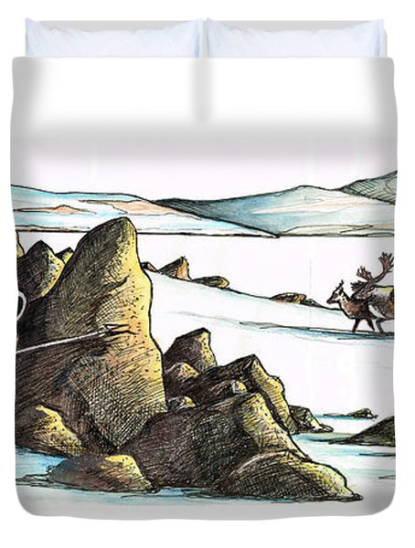 Inuit Waiting Duvet Cover