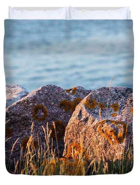 Inverness Beach Rocks  Duvet Cover