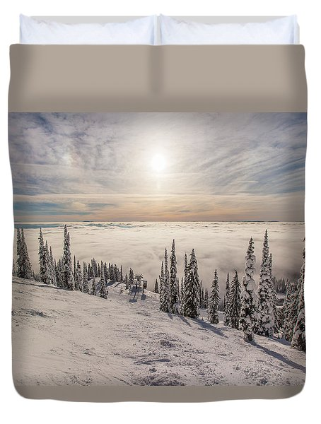 Inversion Sunset Duvet Cover