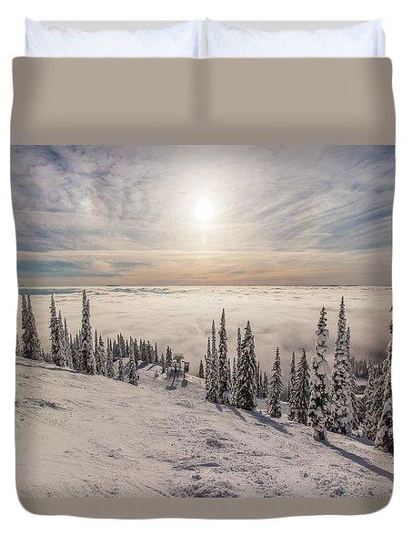 Inversion Sunset Duvet Cover