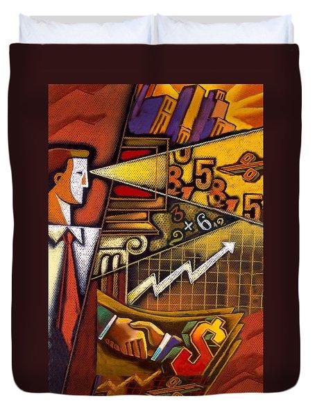 Investor Duvet Cover by Leon Zernitsky