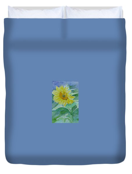 Inviting Sunflower Small Sunflower Art Duvet Cover
