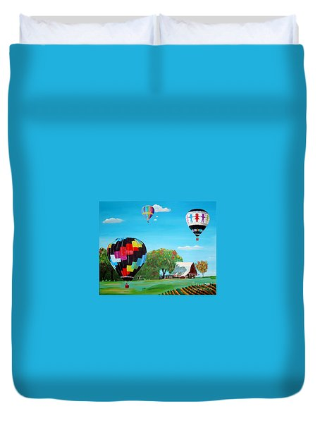Iowa Balloons Duvet Cover