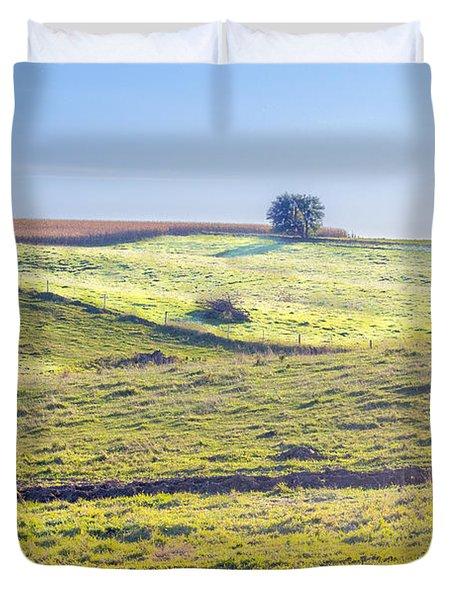Iowa Farm Land #1 Duvet Cover