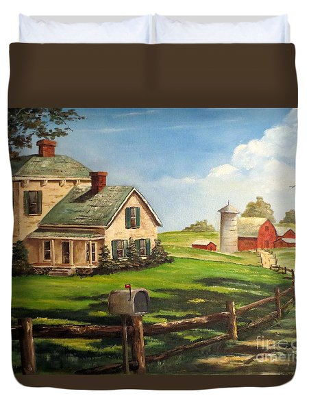 Iowa Farm Duvet Cover by Lee Piper