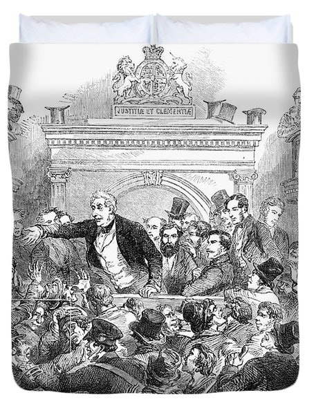 Ireland Election, 1857 Duvet Cover