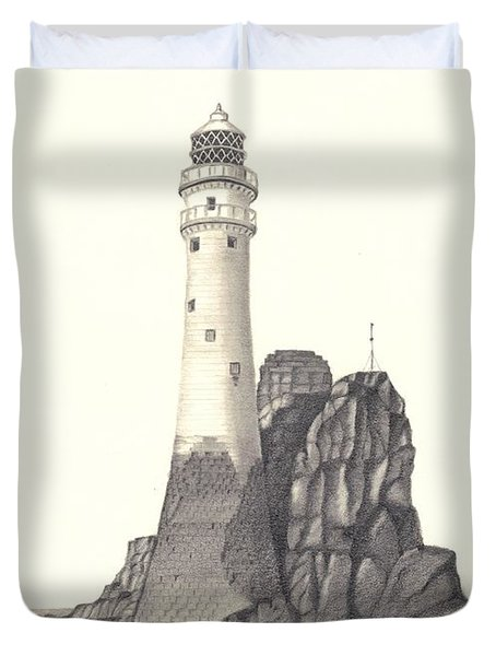 Ireland Lighthouse Duvet Cover by Patricia Hiltz