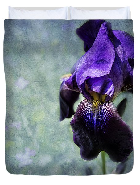 Iris - Purple And Blue - Flowers Duvet Cover