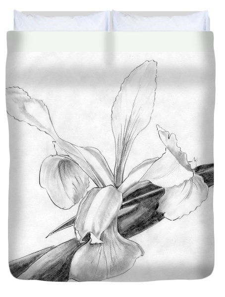 Duvet Cover featuring the photograph Iris 3 by I'ina Van Lawick