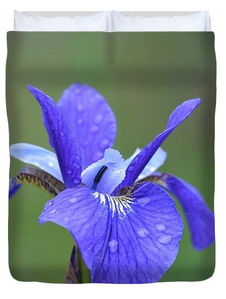 Iris After A Rain Duvet Cover