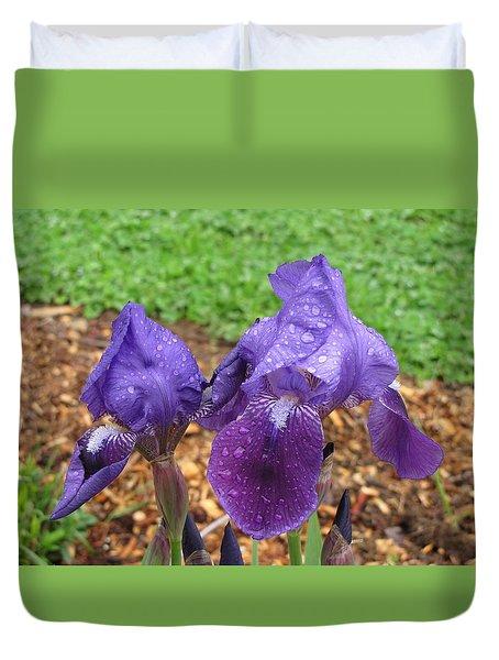 Iris After Rain Duvet Cover