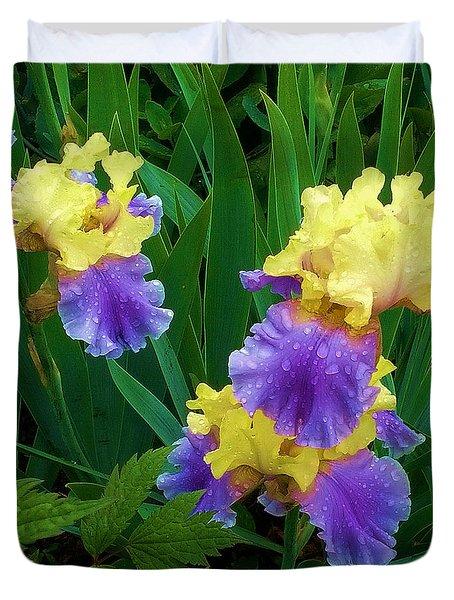 Iris After The Rain Duvet Cover