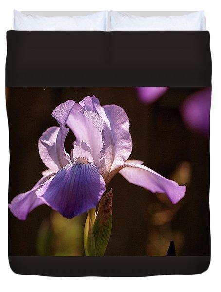 Iris Aglow Duvet Cover by Rona Black