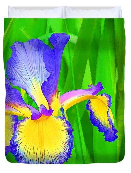 Iris Blossom Duvet Cover