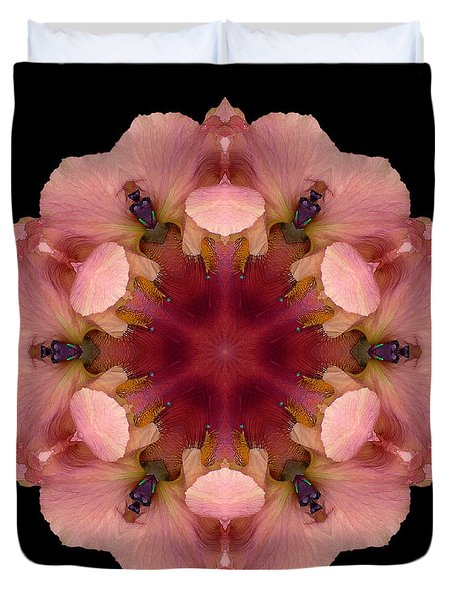 Iris Germanica Flower Mandala Duvet Cover