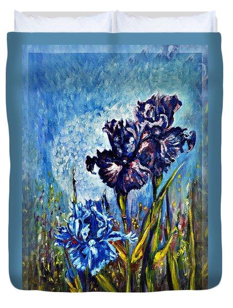 Iris Duvet Cover by Harsh Malik