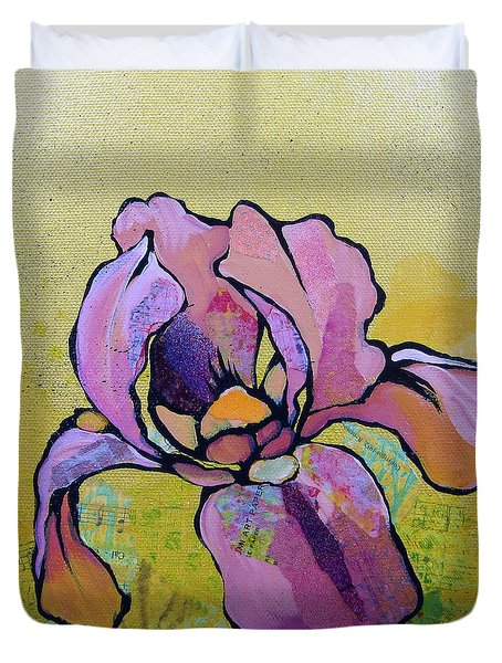 Iris I Duvet Cover by Shadia Derbyshire