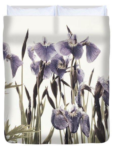 Iris In The Park Duvet Cover by Priska Wettstein