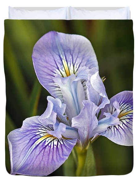 Duvet Cover featuring the photograph Iris by Kate Brown