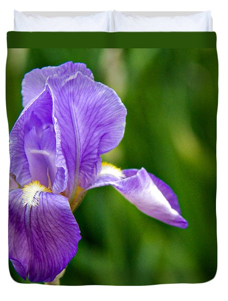 Duvet Cover featuring the photograph Iris by Lana Trussell