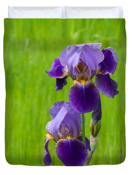 Iris Duvet Cover by Michele Wright