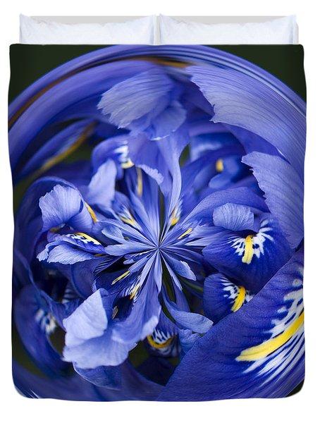 Iris Orb Duvet Cover by Anne Gilbert