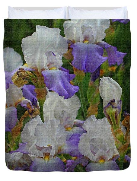 Iris Patch At The Arboretum Duvet Cover