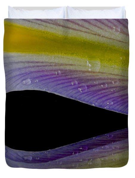 Iris Petal Reflected Duvet Cover