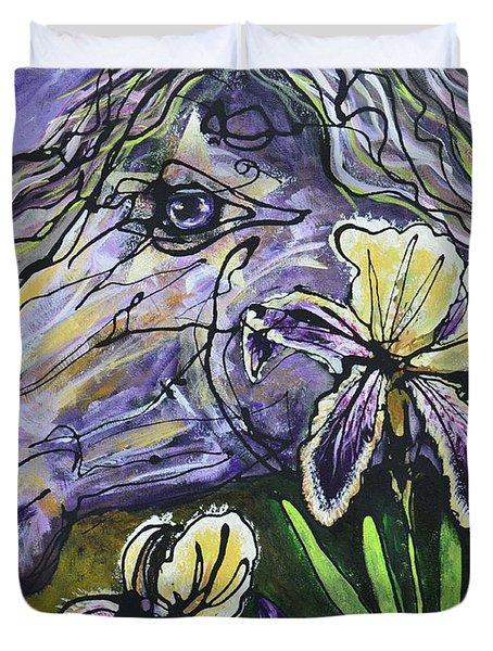 Iris Upon A Star Duvet Cover