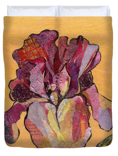 Iris V  - Series V Duvet Cover by Shadia Derbyshire