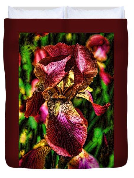 Iris With Fashionable Sense Duvet Cover