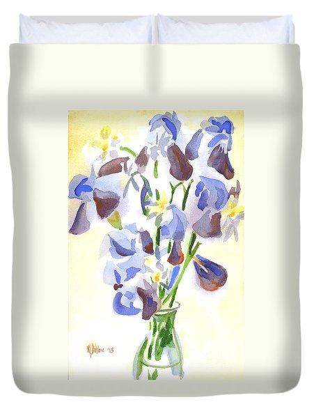 Irises Aglow Duvet Cover by Kip DeVore