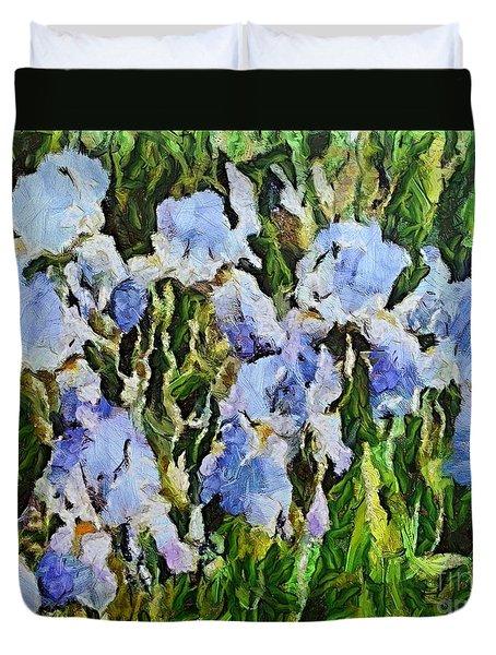 Irises Duvet Cover by Dragica  Micki Fortuna