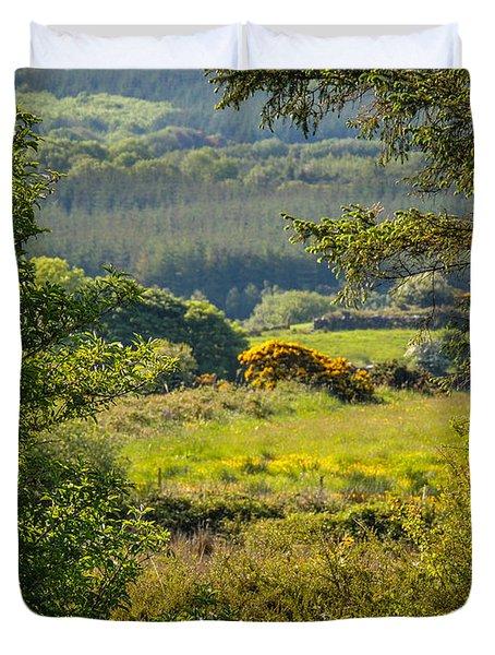 Irish Countryside In Spring Duvet Cover