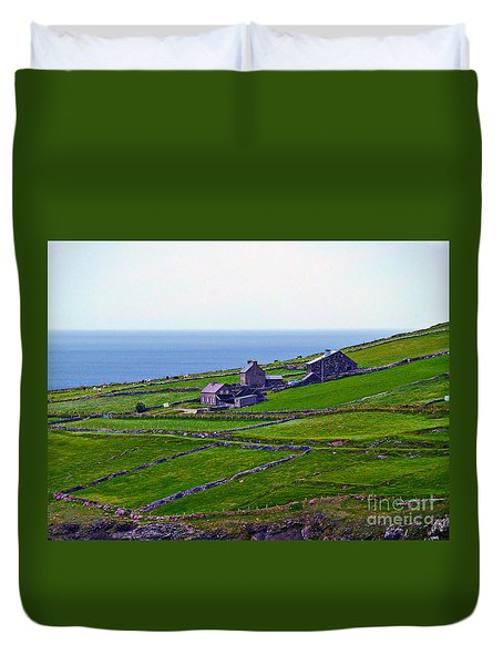 Irish Farm 1 Duvet Cover by Patricia Griffin Brett